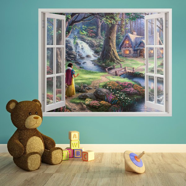 Stickers for Kids: Window Snow White in the woods