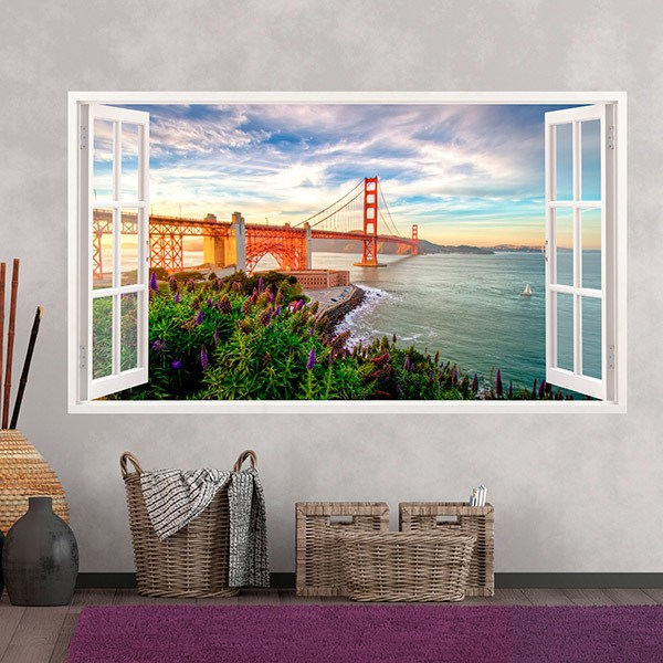 Wall Stickers: Panoramic Golden Gate