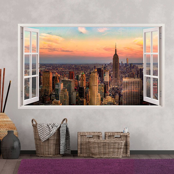 Wall Stickers: Panorama skyline of New York