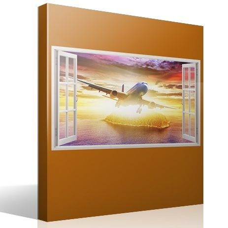 Wall Stickers: Commercial aircraft in the Caribbean