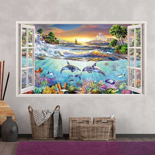 Wall Stickers: Panoramic Sea bottom