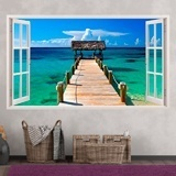Wall Stickers: Panorama gateway to the sea in Bahamas 3