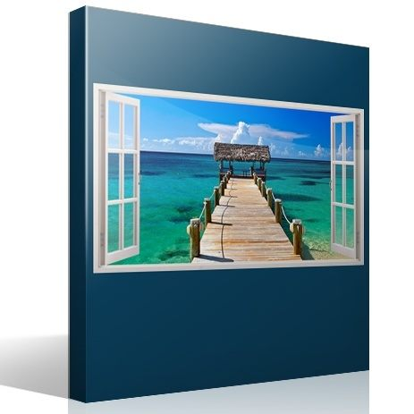 Wall Stickers: Panorama gateway to the sea in Bahamas