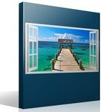 Wall Stickers: Panorama gateway to the sea in Bahamas 4