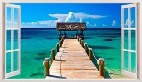 Wall Stickers: Panorama gateway to the sea in Bahamas 5