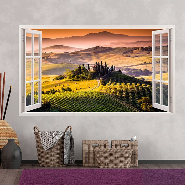 Wall Stickers: Panorama Tuscany Italian