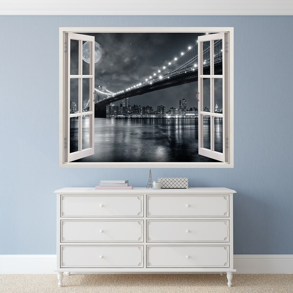 Wall Stickers: Brooklyn Bridge (black and white)