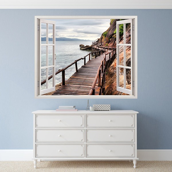 Wall Stickers: Footbridge of Sea 1