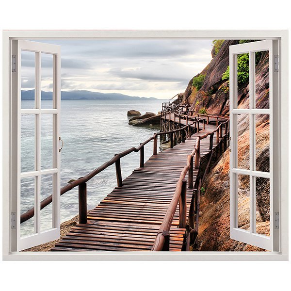 Wall Stickers: Footbridge of Sea