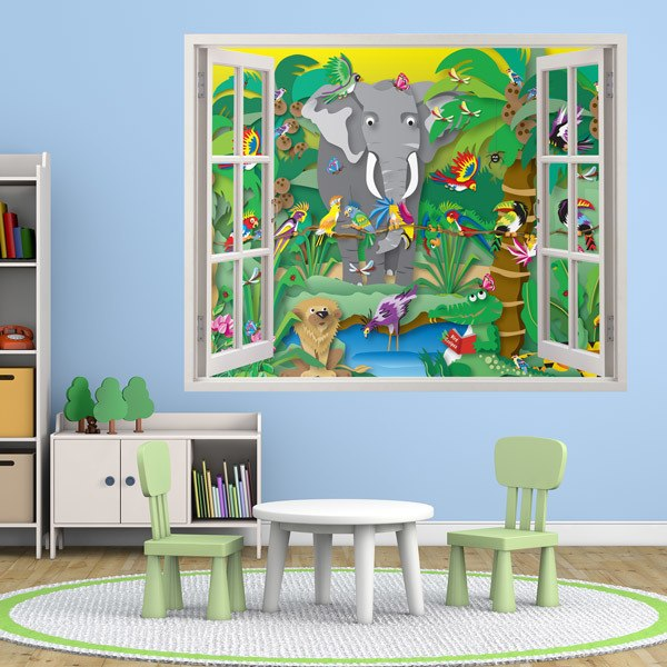 Stickers for Kids: Window The jungle