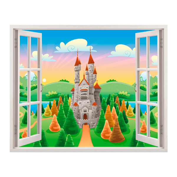 Stickers for Kids: Castle window of the sun