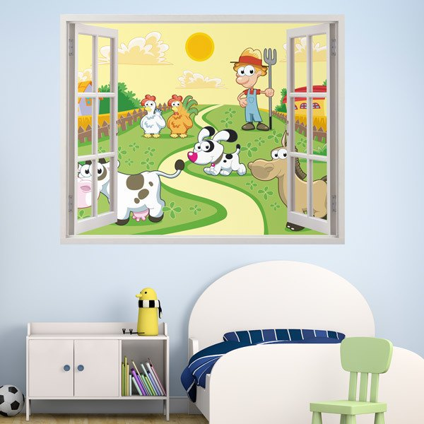 Stickers for Kids: Windows The farm