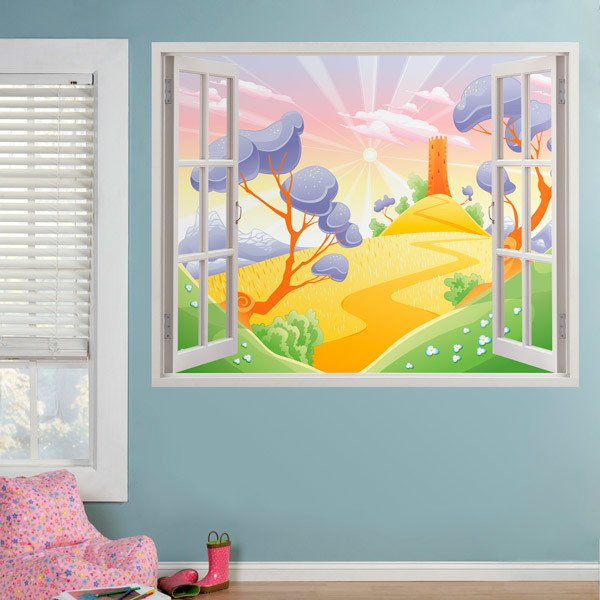Stickers for Kids: Window Wheat fields