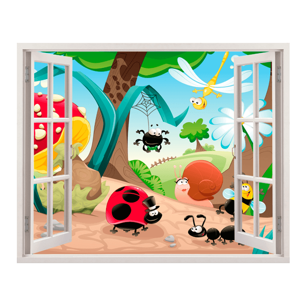 Stickers for Kids: Window Forest Meeting