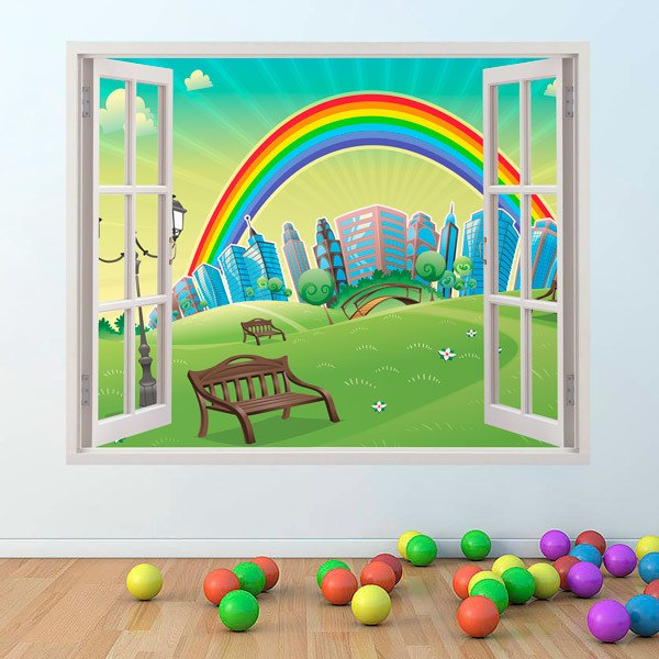 Stickers for Kids: Window Rainbow