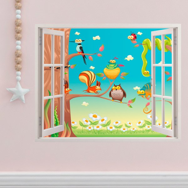 Stickers for Kids: Window At the top of the tree