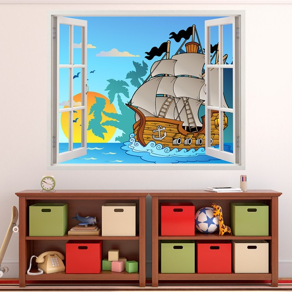 Stickers for Kids: Window Pirates