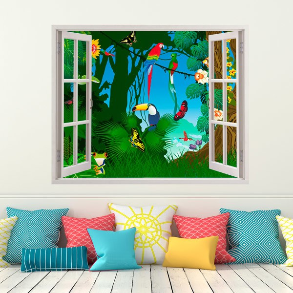 Stickers for Kids: Window Jungle