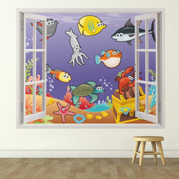 Stickers for Kids: Window Marine animals