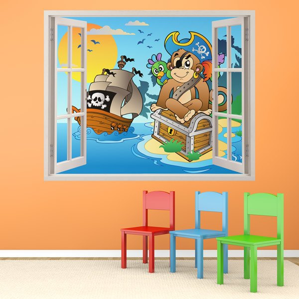 Stickers for Kids: Window The monkey