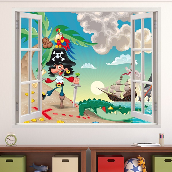 Stickers for Kids: Window Captain