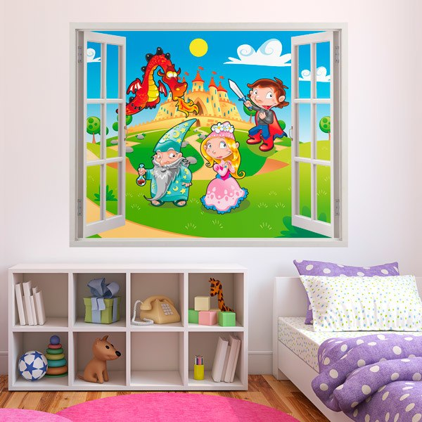 Stickers for Kids: Window The dragon