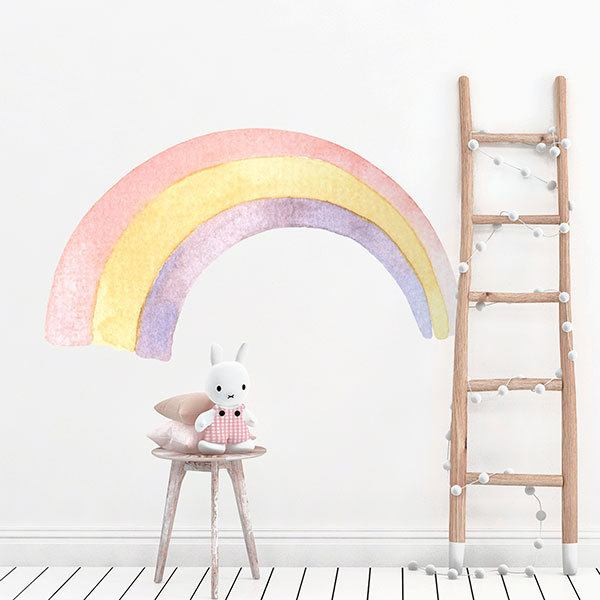 Stickers for Kids: Rainbow tricolor