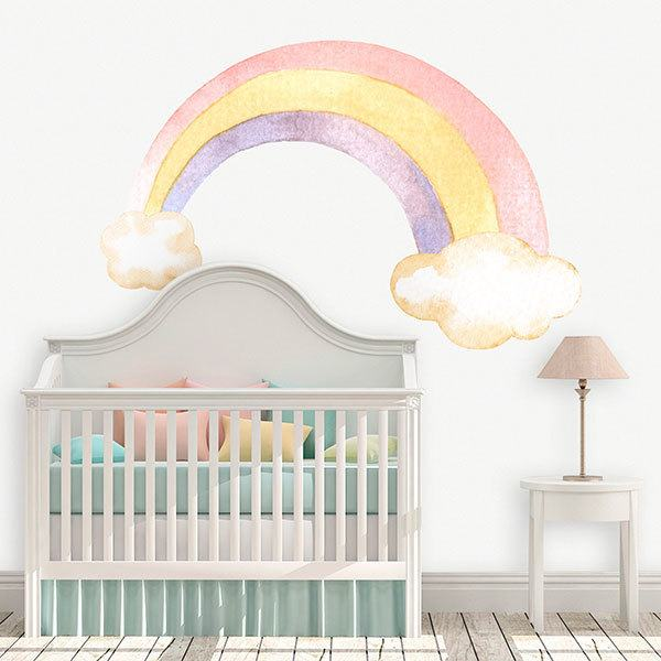 Stickers for Kids: Watercolour rainbow