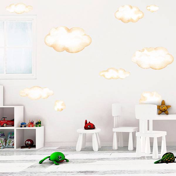 Stickers for Kids: Kit watercolor clouds