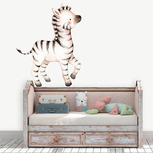 Stickers for Kids: Watercolour zebra