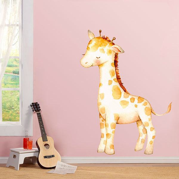Stickers for Kids: Watercolour giraffe