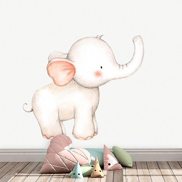 Stickers for Kids: Watercolor Elephant
