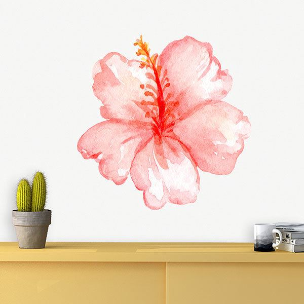 Stickers for Kids: Watercolour Hibiscus
