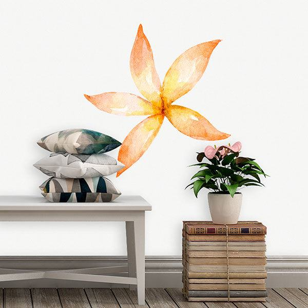 Stickers for Kids: Orange elongated flower