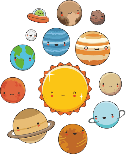 Stickers For Kids Space Planets Kit