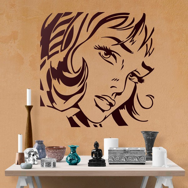 Wall Stickers: Girl with Hair Ribbon