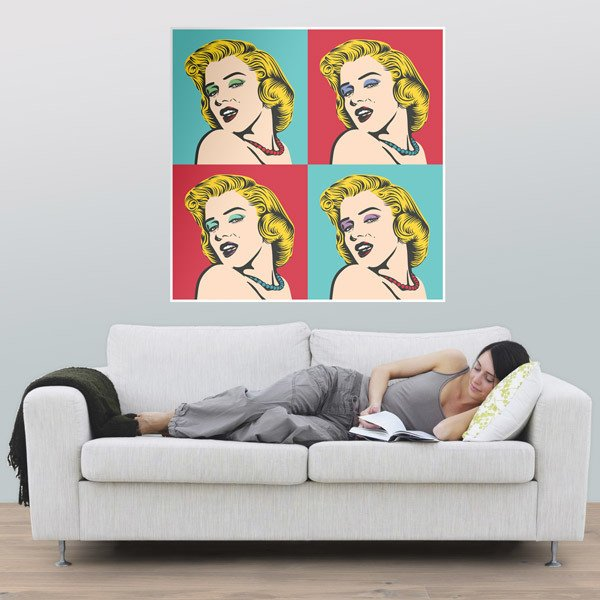 Wall Stickers: Marilyn Warhol 1
