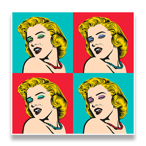 Wall Stickers: Marilyn Warhol 0