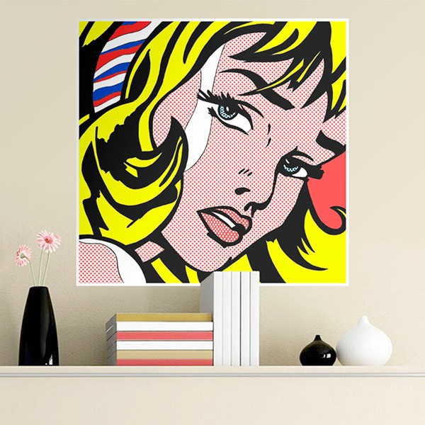Wall Stickers: Girl, Roy Lichtenstein