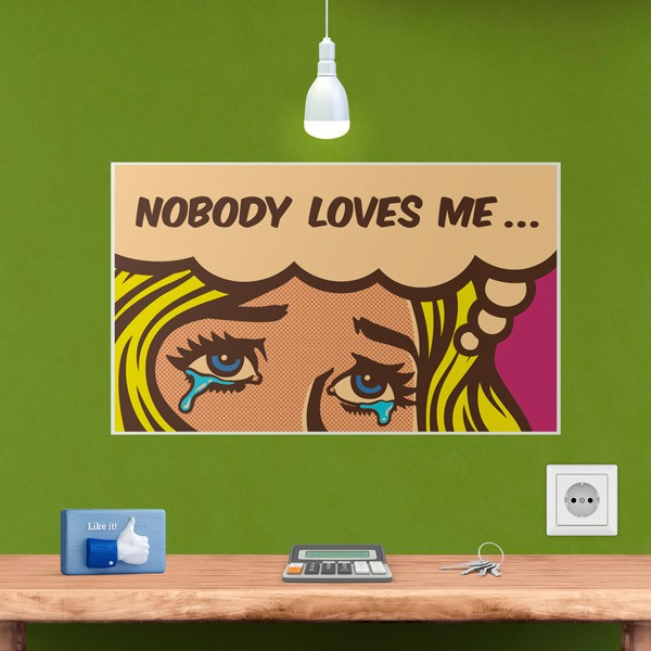 Wall Stickers: Nobody loves me...