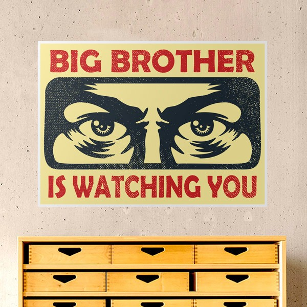 Wall Stickers: Big brother is watching you