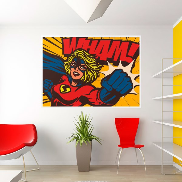 Wall Stickers: Superheroin Comic