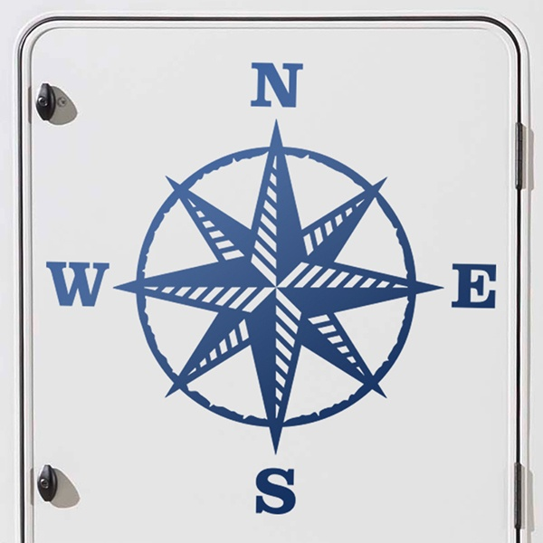 Car & Motorbike Stickers: Compass rose