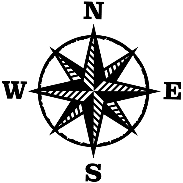 Car and Motorbike Stickers: Compass rose