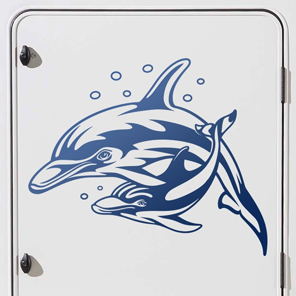 Car and Motorbike Stickers: Family of Dolphins