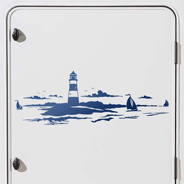 Car and Motorbike Stickers: Skyline Maritime Lighthouse