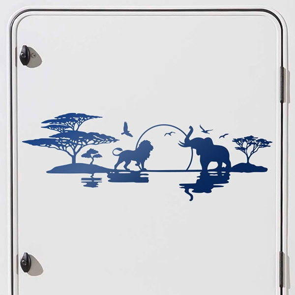 Car and Motorbike Stickers: African Skyline