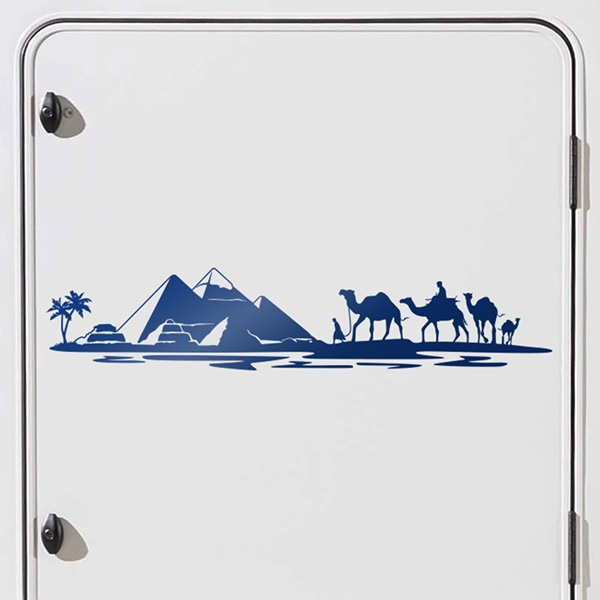 Car and Motorbike Stickers: Egyptian Skyline