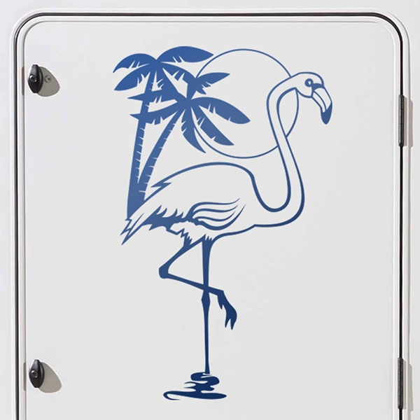 Car & Motorbike Stickers: Flamingo