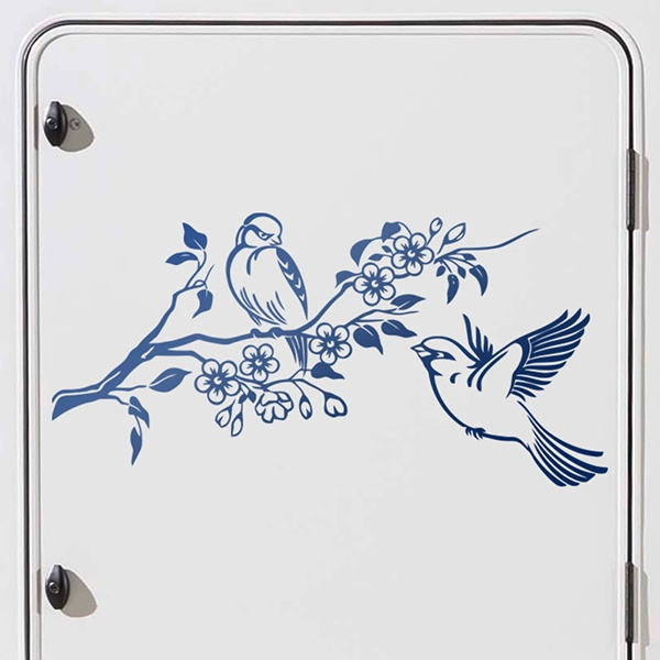 Car & Motorbike Stickers: Sparrows in spring